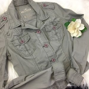 Hollister Olive Green Distressed Blazer